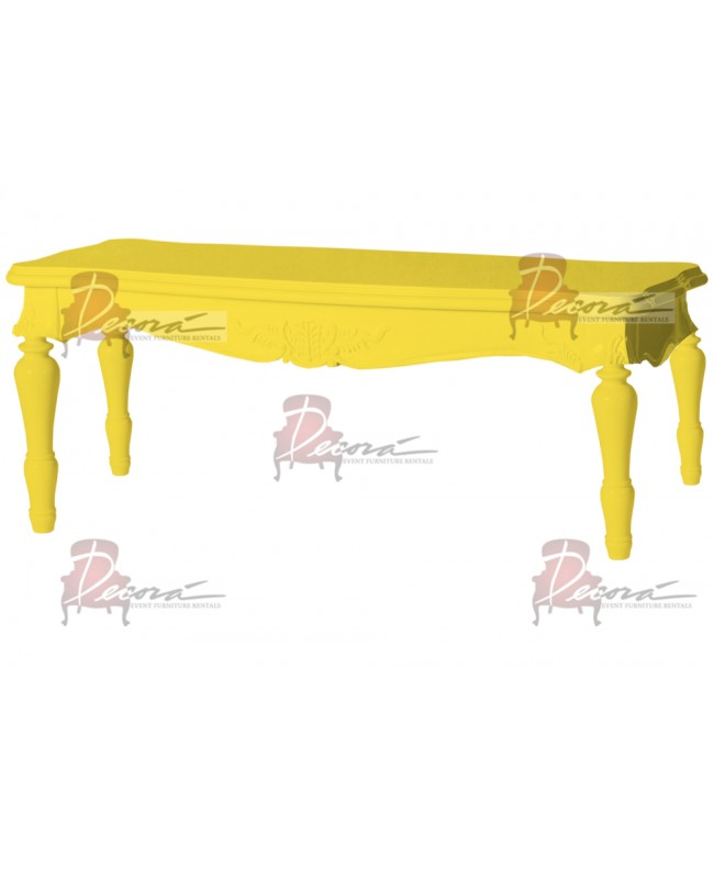 "Baroque Table 18""x48""x30""H (King)(Yellow)"