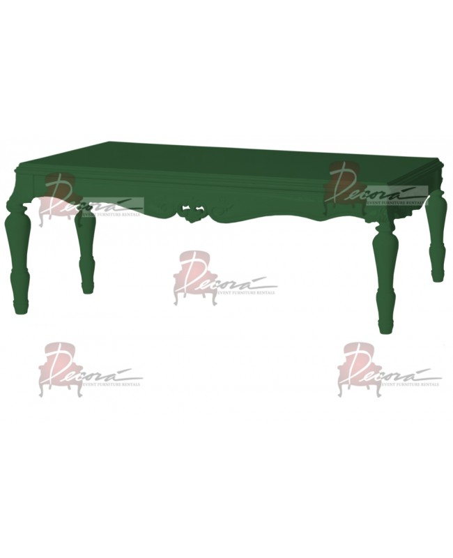 "Baroque Table 24""x48""x30""H (King) (Green)"