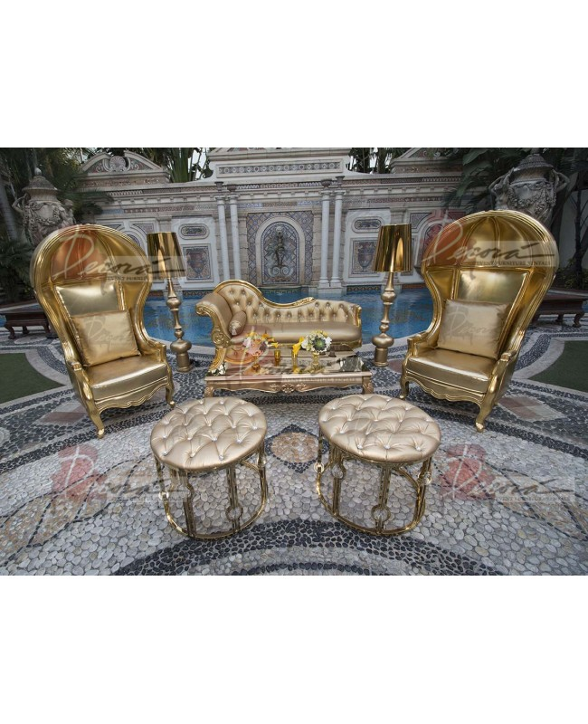 "Baroque Table 24""x48""x16""H (Queen) (Yellow)"