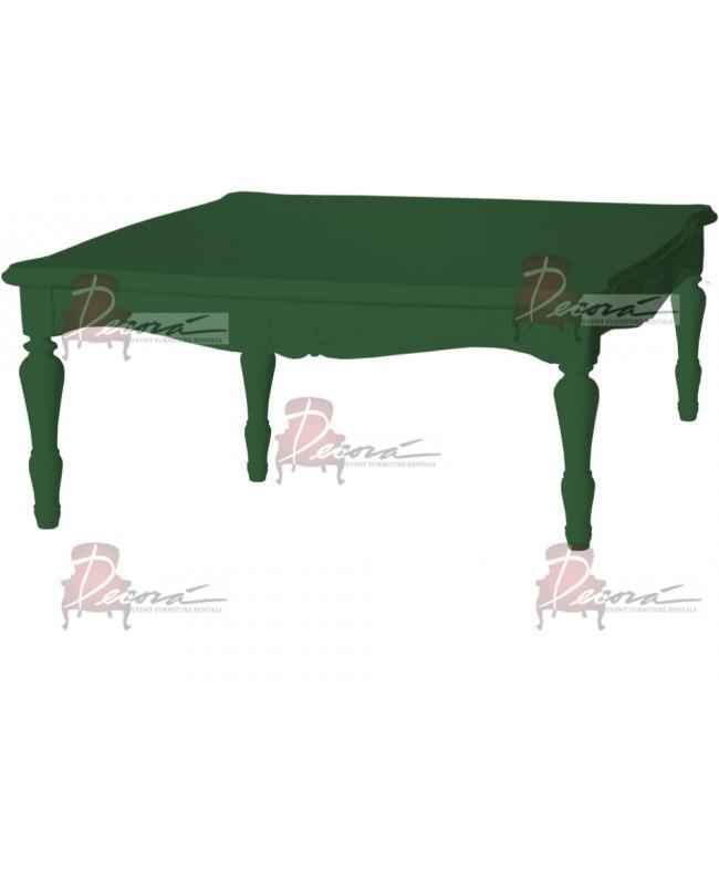"Baroque Table 48""x48""x30""H (King) (Green)"