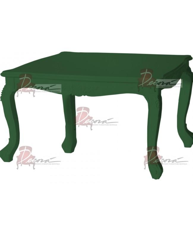 """Baroque Table 48""""x48""""30""""H (Queen) (Green)"""