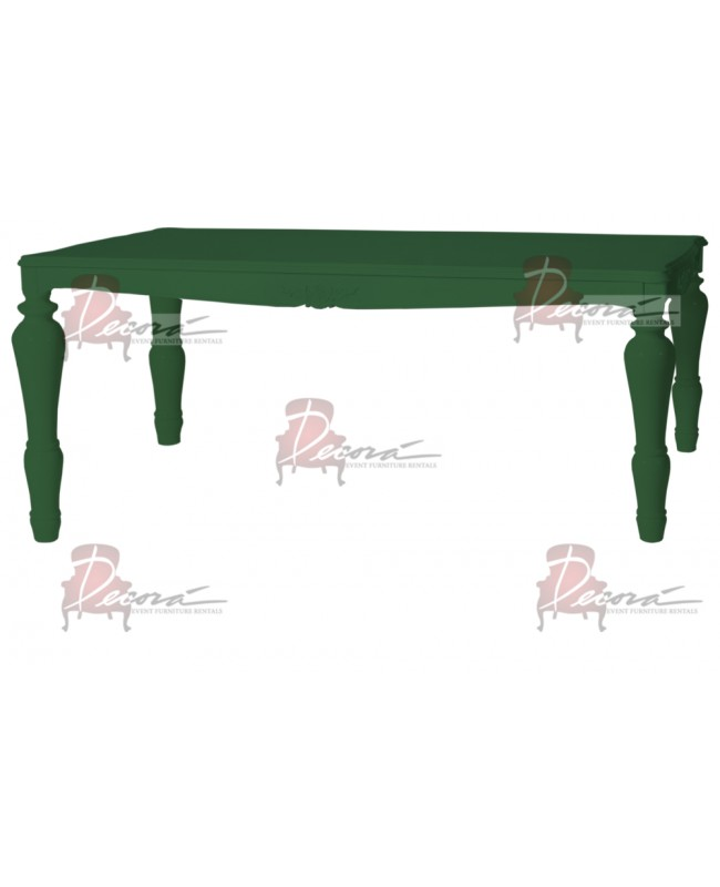 "Baroque Table 48""x96""x42""H (King) (Green)"
