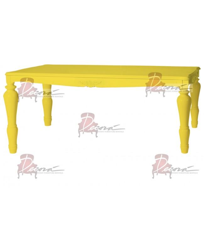 "Baroque Table 48""x96""x42""H (King) (Yellow)"