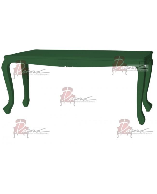 """Baroque Table 48""""x96""""x42""""H (Queen) (Green)"""
