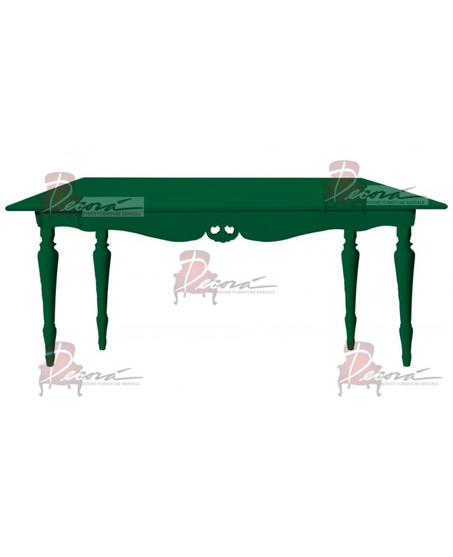 "Baroque Table 30""x72""x42""H (King) (Green)"