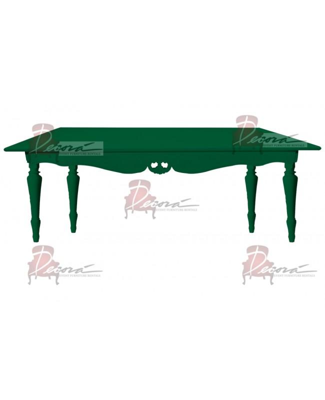 "Baroque Table 30""x72""x30""H (King) (Green)"