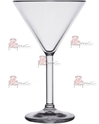 Clear Plastic Martini Glassware (Rack 16)