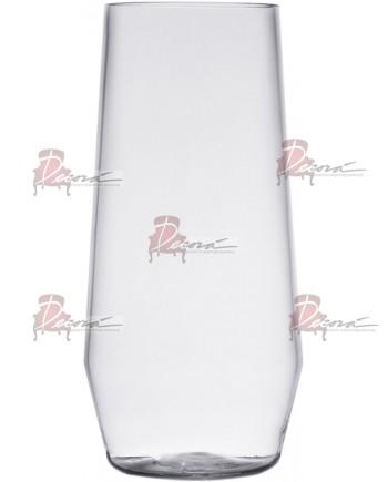 Clear Plastic Water Glassware (Rack 25) 18 oz