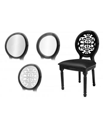 Louis XV Chair (Black)
