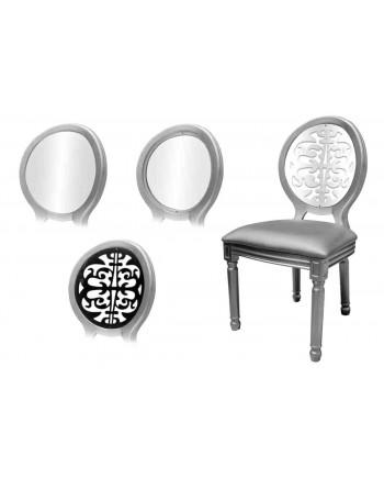 Louis XV Chair (Silver)