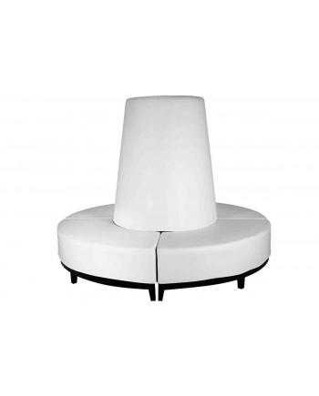 Contemporary Banquette (Round) (White)