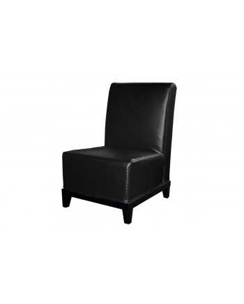 Contemporary Chair (Armless) (Black)