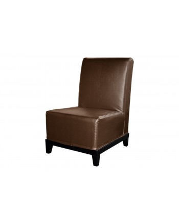 Contemporary Chair (Armless) (Brown)