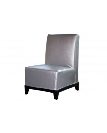 Contemporary Chair (Armless) (Silver)