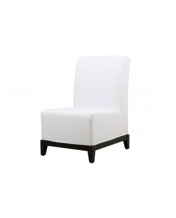 Contemporary Chair (Armless) (White)