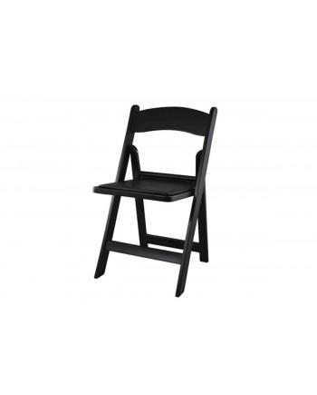 Resin Folding Chair (Black)