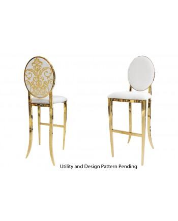 Dior Barstool (Gold-White)