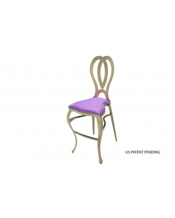 Halexandria Barstool (Gold- Purple)