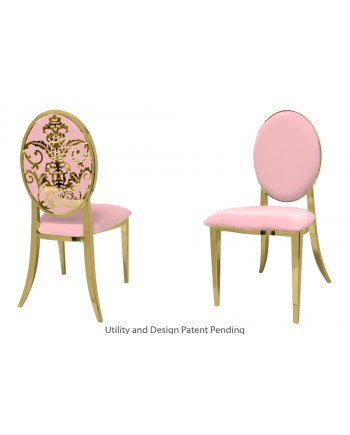 Dior Chair (Gold-Pink)