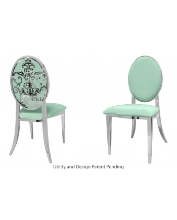 Dior Chair (Silver-Mint)