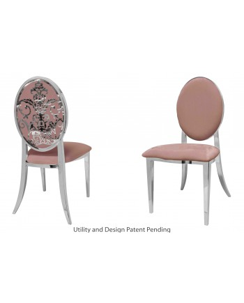 Dior Chair (Silver-Rose Gold)