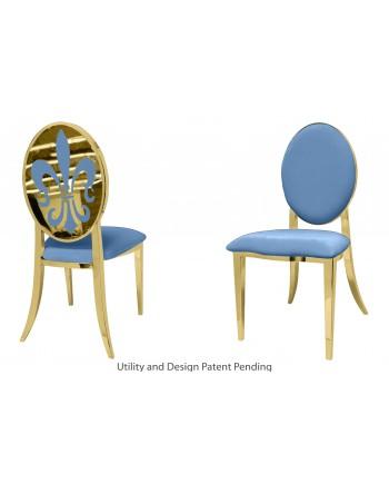 Fleur-de-lis Chair (Gold-Blue)