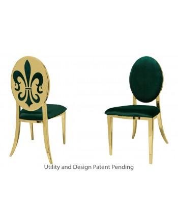 Fleur-de-lis Chair (Gold-Emerald)