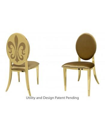 Fleur-de-lis Chair (Gold-Gold)