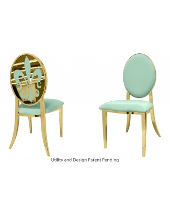 Fleur-de-lis Chair (Gold-Mint)