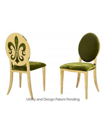 Fleur-de-lis Chair (Gold-Moss)