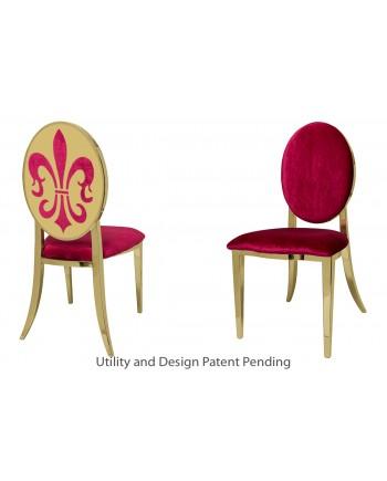 Fleur-de-lis Chair (Gold-Red)