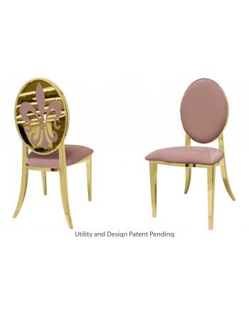 Fleur-de-lis Chair (Gold-Rose Gold)