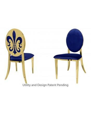 Fleur-de-lis Chair (Gold-Royal)