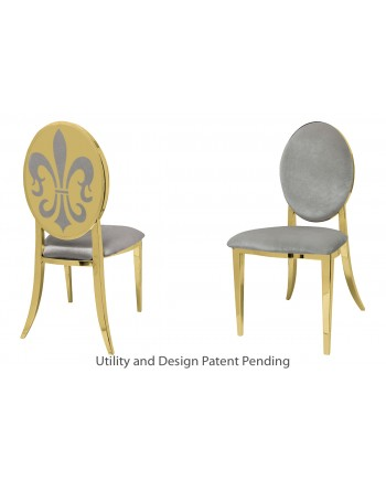 Fleur-de-lis Chair (Gold-Silver)