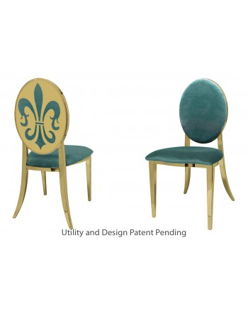 Fleur-de-lis Chair (Gold-Tiffany)
