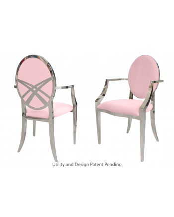 Lasso Armchair (Silver-Pink)