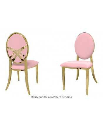 Lasso Chair (Gold-Pink)
