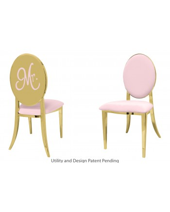 Mr. Chair (Gold-Pink)