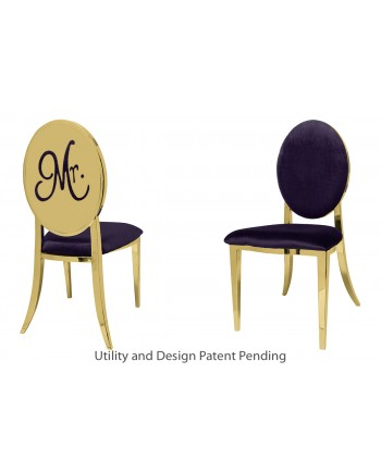 Mr. Chair (Gold-Eggplant)