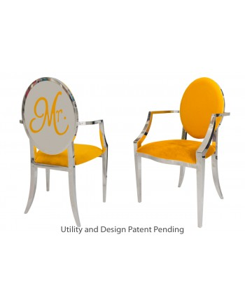 Mr. Armchair (Silver-Yellow)