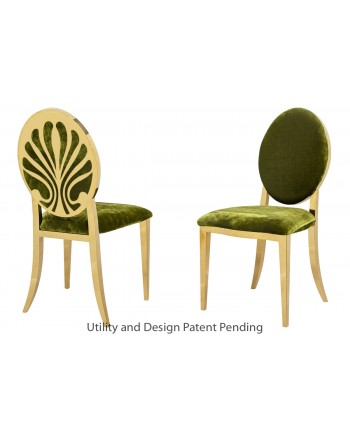 Nouveau Shell Chair (Gold-Moss)