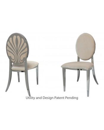 Nouveau Shell Chair (Silver-Champagne)