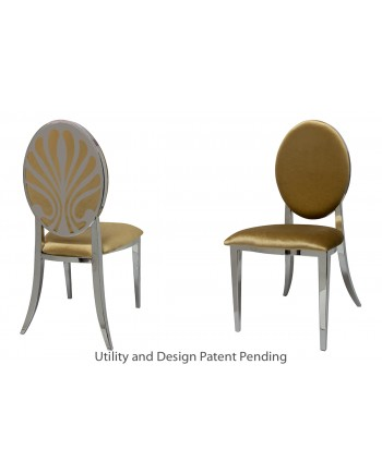 Nouveau Shell Chair (Silver-Gold)