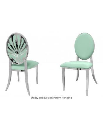 Nouveau Shell Chair (Silver-Mint)