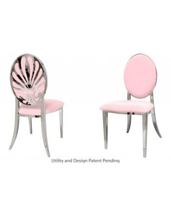 Nouveau Shell Chair (Silver-Pink)
