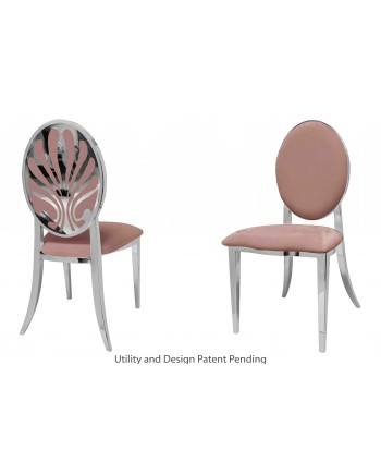 Nouveau Shell Chair (Silver-Rose Gold)