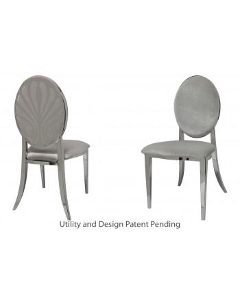 Nouveau Shell Chair (Silver-Silver)