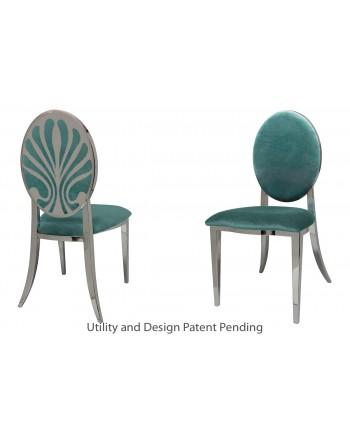 Nouveau Shell Chair (Silver-Tiffany)