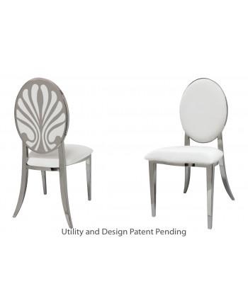 Nouveau Shell Chair (Silver-White)