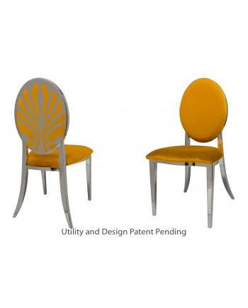 Nouveau Shell Chair (Silver-Yellow)